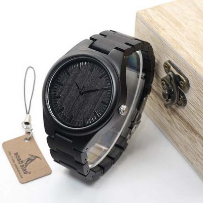 ceas barbatesc negru lemn