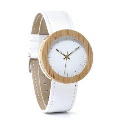 ceas dama alb din lemn
