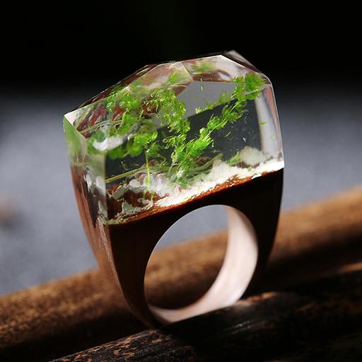 inel din lemn verde
