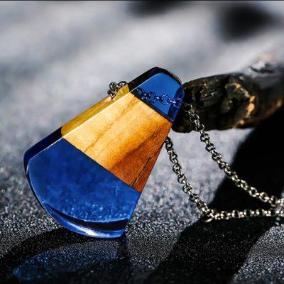 colier aquamarine