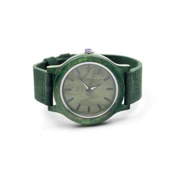 ceas mana verde lemn