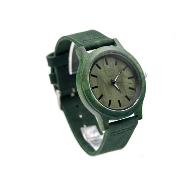 ceas verde lemn