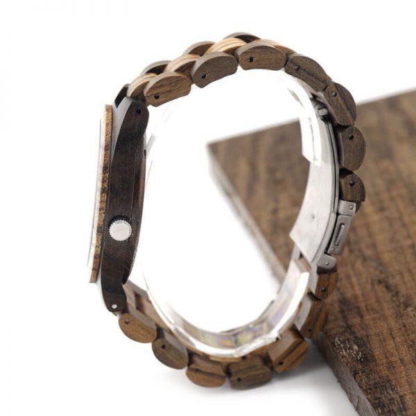 ceas din lemn barbatesc