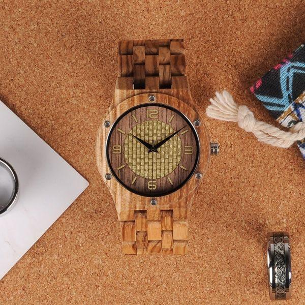 cadou ceas lemn