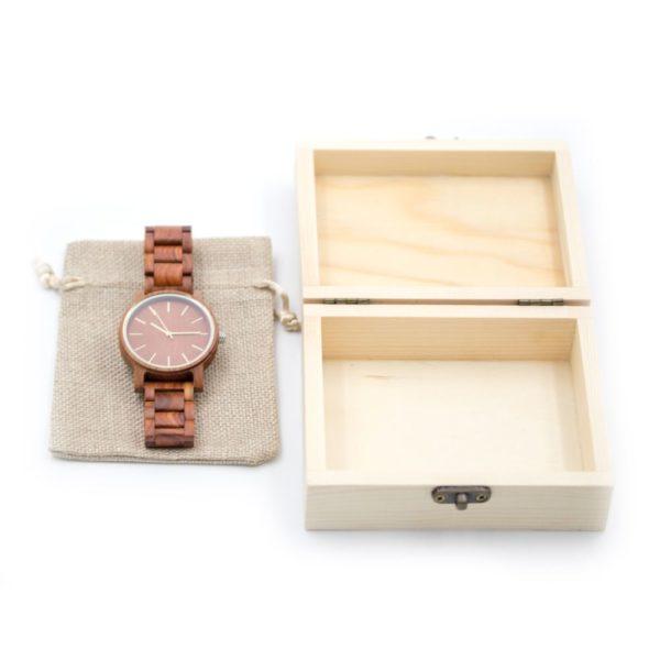 cadou ceas din lemn