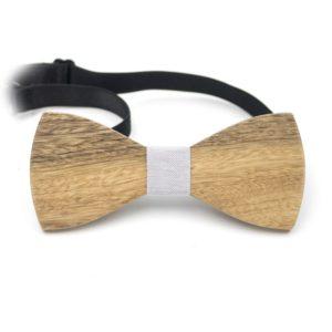 cadou papion lemn