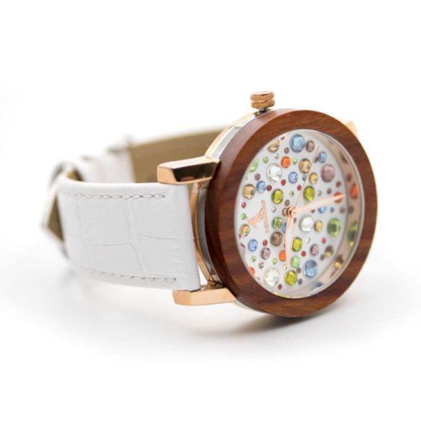 ceas alb din lemn