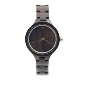 ceas dama lemn negru