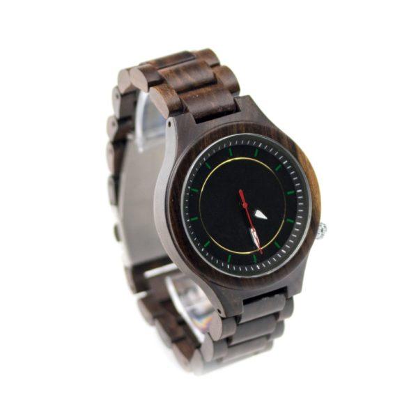 ceas dama negru din lemn