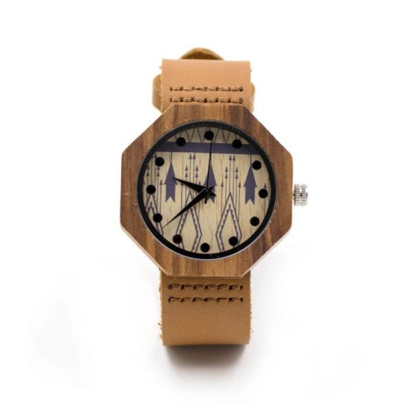 ceas de mana lemn