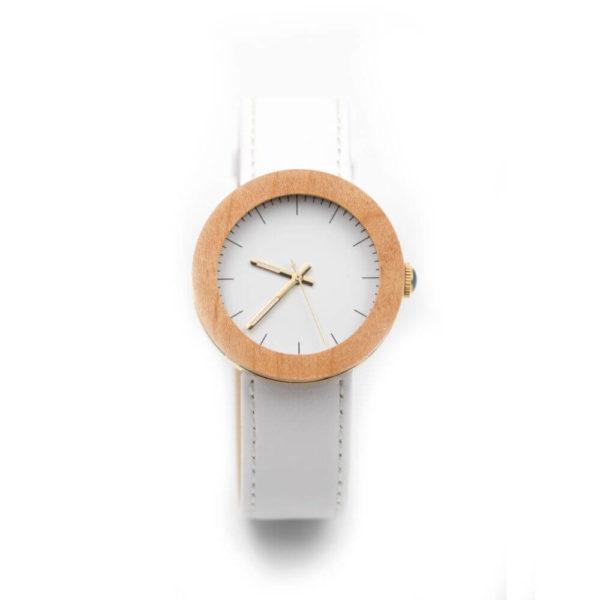ceas din lemn alb