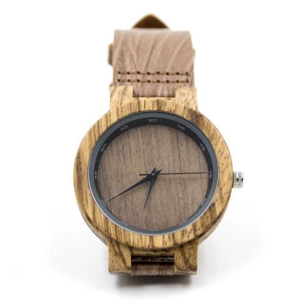 ceas din zebra wood