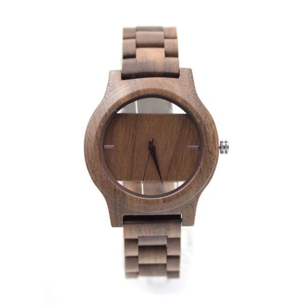 ceas lemn maro