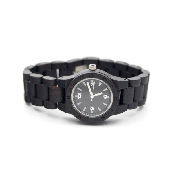 ceas lemn negru