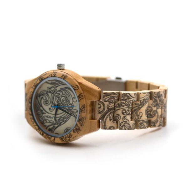 ceas unisex lemn