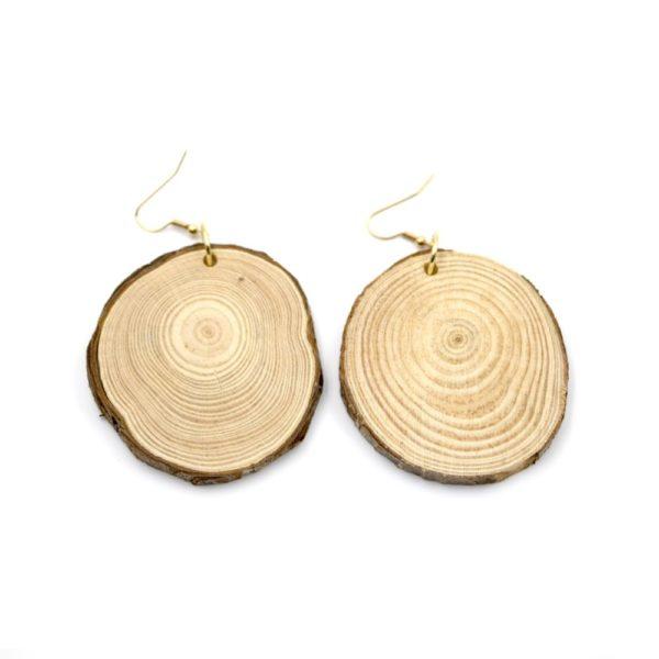 cercei din lemn