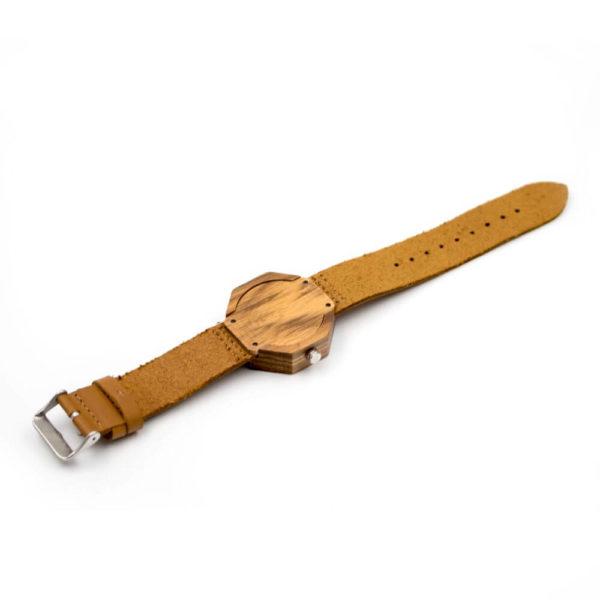 curea piele ceas de lemn