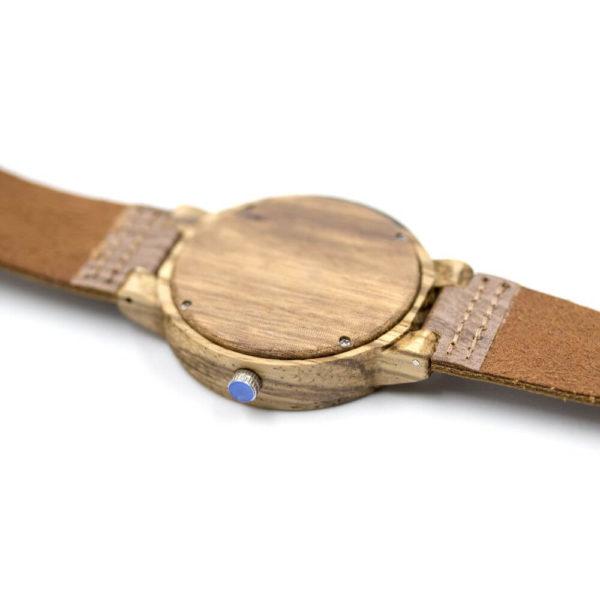 curea piele ceas lemn