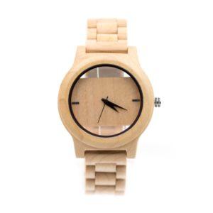 ceas realizat din lemn