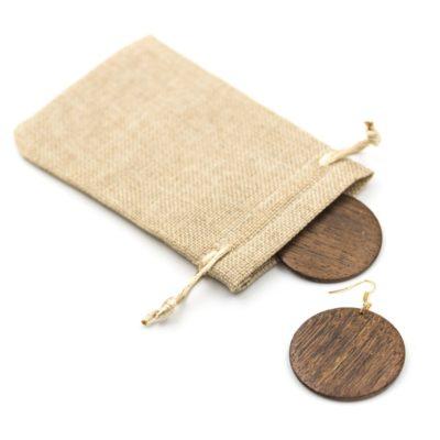 cercei discuri lemn