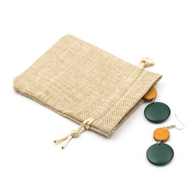 cercei handmade lemn verzi