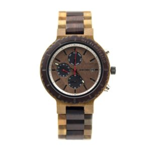 Ceas barbatesc din lemn cu cronograf