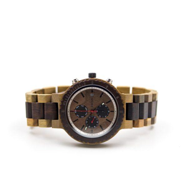 Ceas din lemn cu cronograf