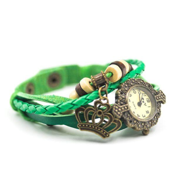 ceas cu bratara verde