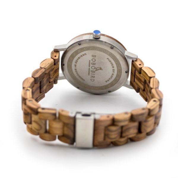 ceas lemn Zebra Wood