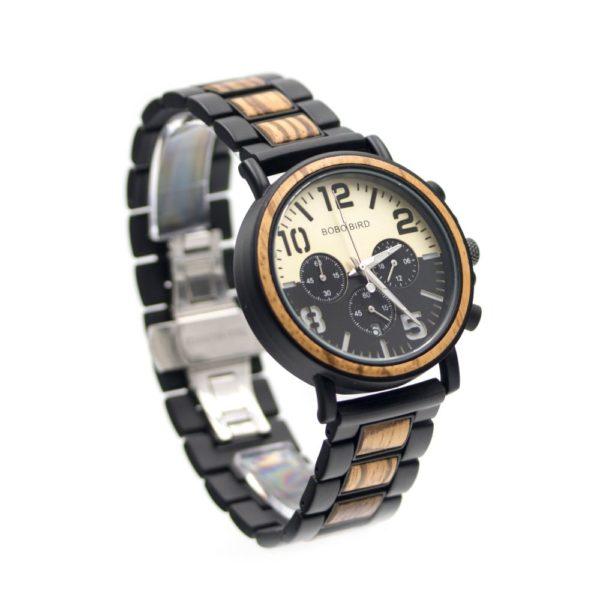 ceas lemn cu cronograf