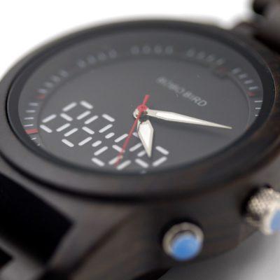 ceas lemn digital analog