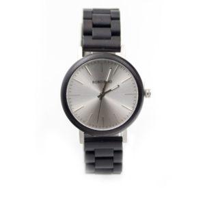 ceas negru lemn