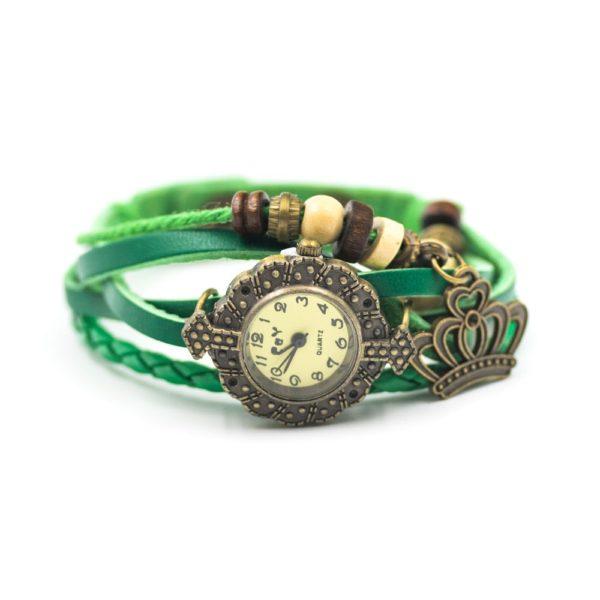 ceas vintage bratara verde