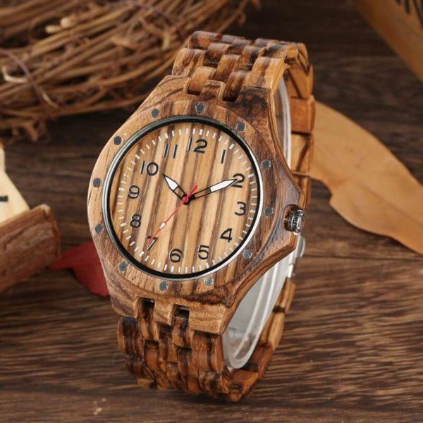 ceas de mana bratara lemn
