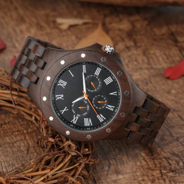 ceas lemn natural