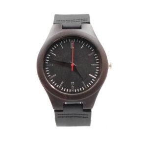 ceas negru de lemn