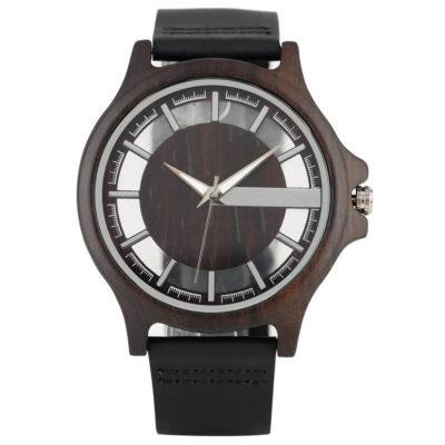 ceas negru din lemn