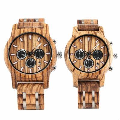 ceasuri de mana lemn
