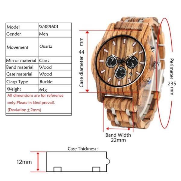 dimensiuni ceas lemn