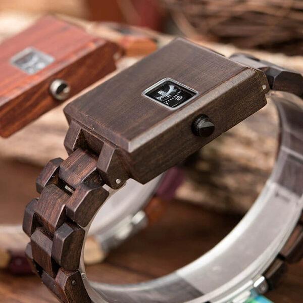 ceas cadran lemn