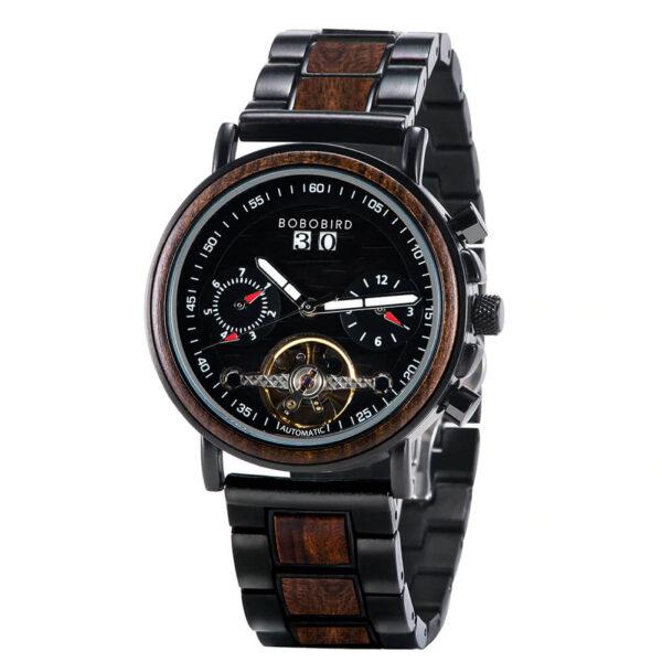ceas cronograf cu lemn