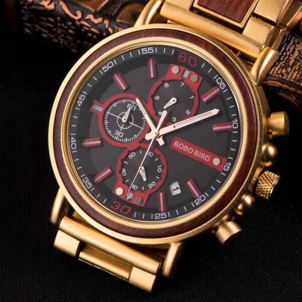 ceas cu insertii lemn