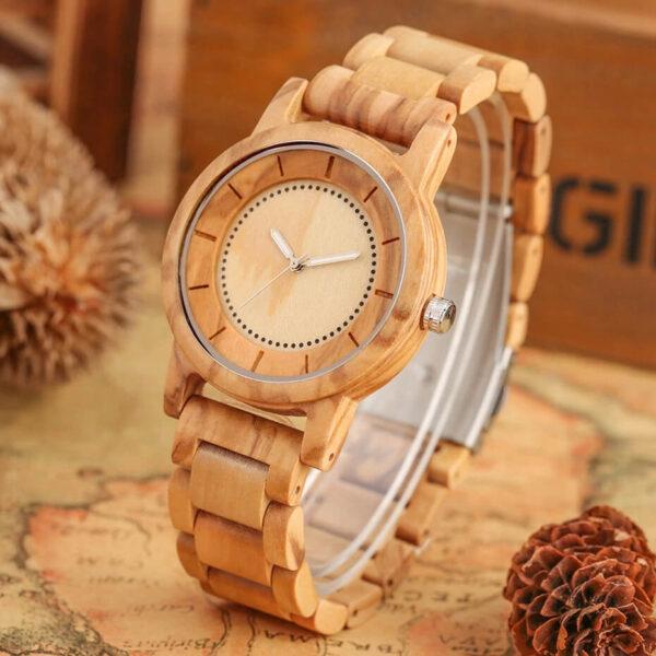 ceas lemn natur