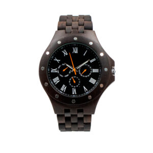 ceas de mana negru de lemn