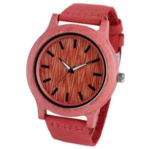 ceas rosu din lemn